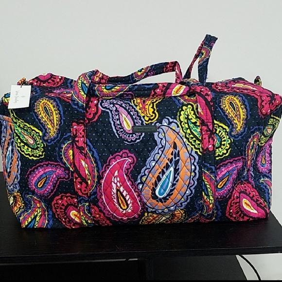 Vera Bradley Large Duffel Bag Twilight Paisley NWT 0a22acbb8b083